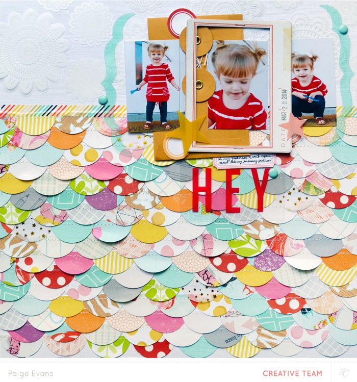 video tutorial - create this fun scalloped border/background with Paige Evans @studio_calico