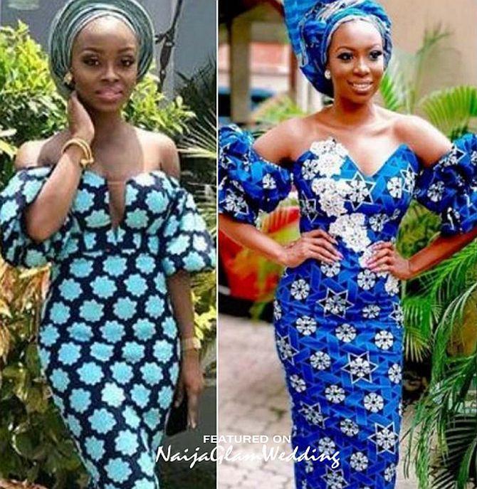 10 Pretty Off Shoulder Dress Styles For Wedding Guest Aso Ebi Naijaglamwedding Off Shoulder Fashion African Fashion Dresses African Fashion Women