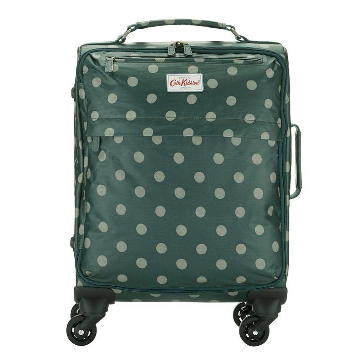 cath kidston, button spot wheeled cabin-sized suitcase.