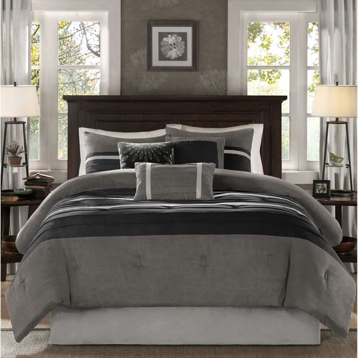 Best 25+ Grey Comforter Sets Ideas On Pinterest