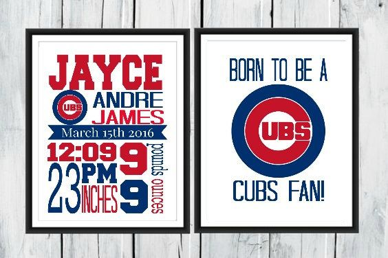 Check out this item in my Etsy shop https://www.etsy.com/ca/listing/272768706/chicago-cubs-birth-stats-print-cubs