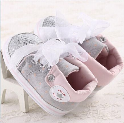 Baby Girl Shoes with Ribbon. Incredible Price!