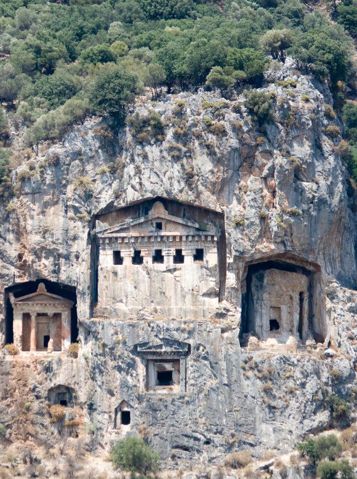 Antiikin hautoja , Dalyan, Turkey