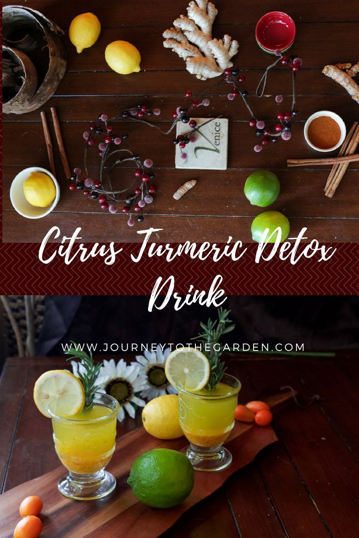 Citrus Turmeric Detox Drink ~ detox each morning with a healthy drink that will revitalize you