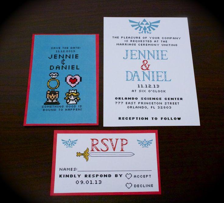 Zelda invitation set by Jennie Bottone