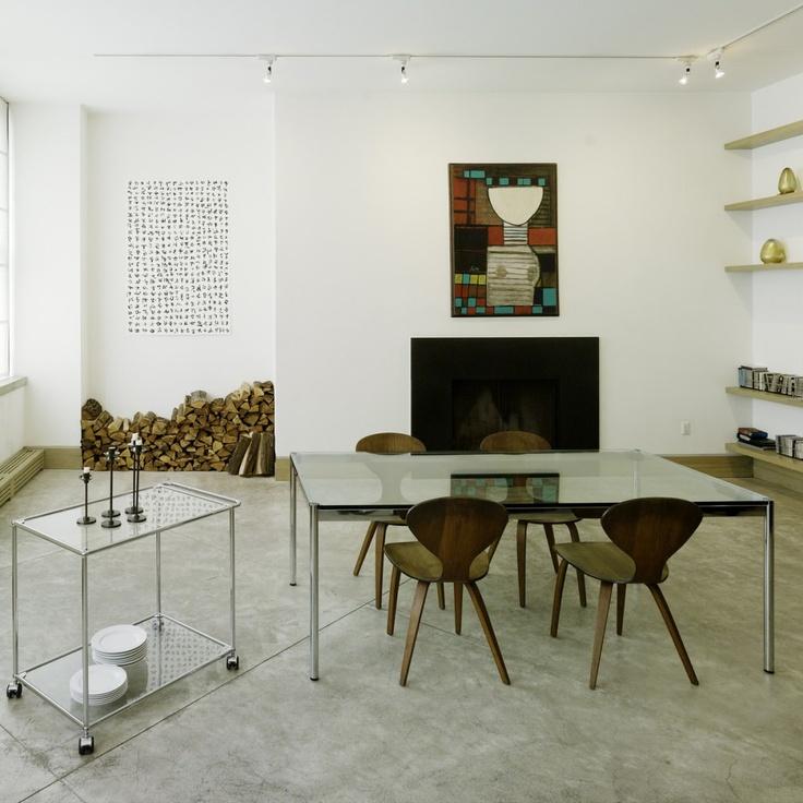 moderner runder glasesstisch ac molteni | möbelideen, Esszimmer