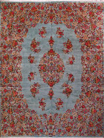"""Kerman Persian Rug, Buy Handmade Kerman Persian Rug 10' 1"""" x 13' 4"""", Authentic Persian Rug $4,649.50"""