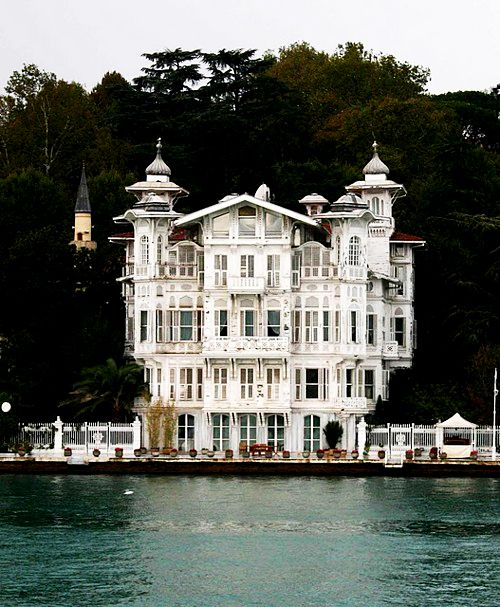 Interesting Home on the Bosphorus in Istanbul, Turkey photographed by Jim Johnson