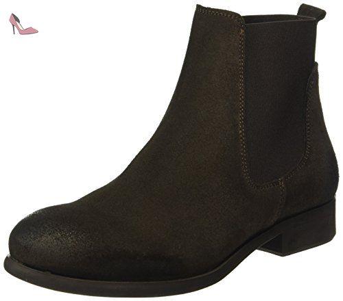 Becca New Leather Chelsea Boot, Bottines femme - Noir (Black), 39 EUPieces