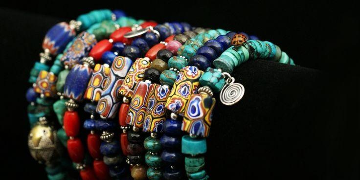 venetian glass jewelry / bransoletki boho ze szkłem weneckim
