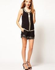 Pantalones cortos con borde de lentejuelas de A|Wear