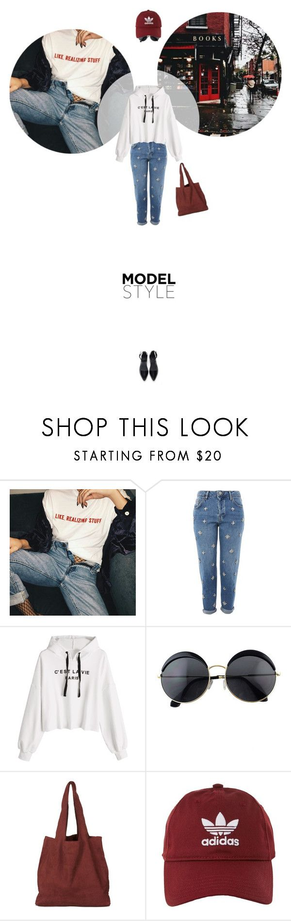// 1325. Model Style. by lilymcenvy on Polyvore featuring Topshop, Forever 21 and adidas