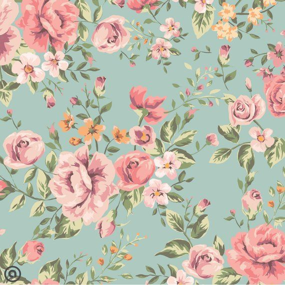 Removable Wallpaper Dainty Rose Peel And Stick Self Etsy Floral Wallpaper Vintage Floral Wallpapers Wallpaper