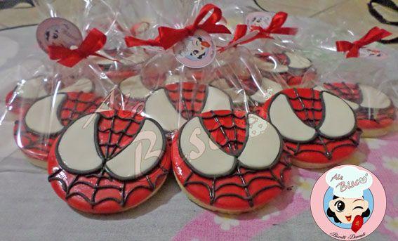 BIscotti Spiderman  #spidermancookie #cookies #cakedesign #fondant