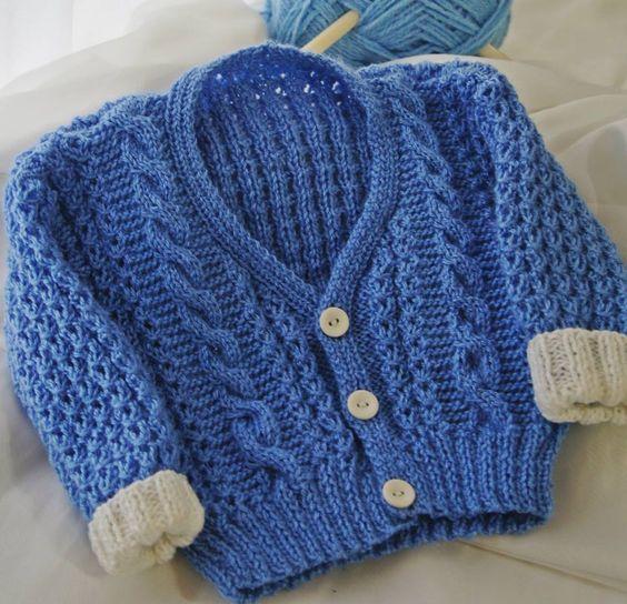 cava raglan em trico para bebe - Pesquisa Google: