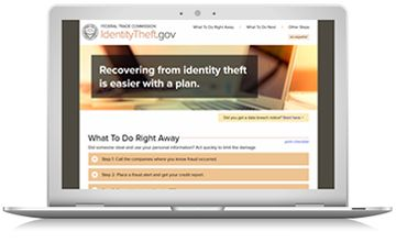 The FTC launched a new website to make it easier for victims to report Identity Theft. Read the article for more information. | www.mcdonaldrogerslaw.com | Criminal Litigation Attorneys in Somerville, NJ | Somerset County, NJ Criminal Lawyers