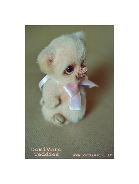 Teddy piggy Rozinukas available for adoption. It's a little guardian of the pink dreams :). info@domivero.lt