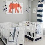 Modern Navy and Gray Twin Nursery - Project Nursery