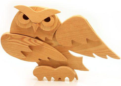 Civetta in legno - Legno animato, oggetti in legno realizzati a manoLegno Animato