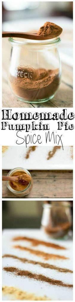 Don't buy expensive spice mixes filled with chemicals. Make your own and control how much of each flavor that you like! Homemade Pumpkin Pie Spice Recipe | Take Two Tapas