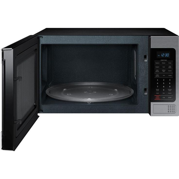 "Has a ""Crisper""? $130 - Samsung 1.1 cu. ft. Countertop Microwave in Stainless Steel with Ceramic Enamel Interior-MG11H2020CT - The Home Depot"
