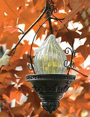 Victorian Trading Solar Powered Outdoor Hanging Lantern Home Outdoor Lighting Ac