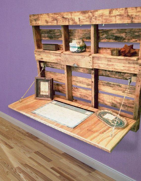 33 mejores im genes sobre escritorios con palets en - Como disenar un bar en casa ...