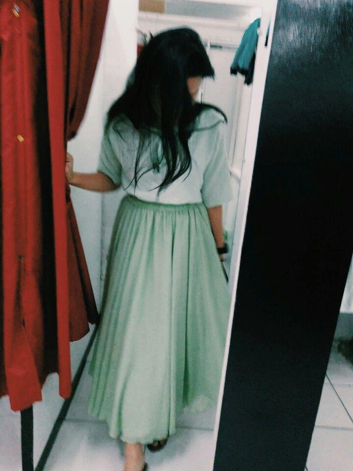 #applegreen #skirt #top #koreantop