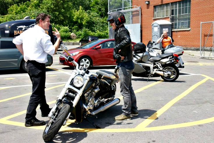 Michael Fassbender at Harley Davidson Montreal In July