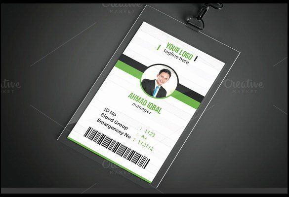 Free Id Card Template Word Lovely Id Card Template 19 Download In Psd Pdf Word Id Card Template Identity Card Design Card Template