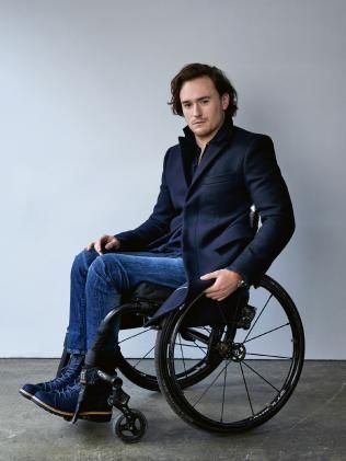 CONFINED to a wheelchair after an accident left him paralysed three years ago, Jason Clymos dreams of being a fashion model will come true today. Fashion Shoot, Boy Fashion, Womens Fashion, How To Feel Beautiful, Beautiful People, Wheelchair Photography, Body Tech, Professional Portrait, Boy Poses