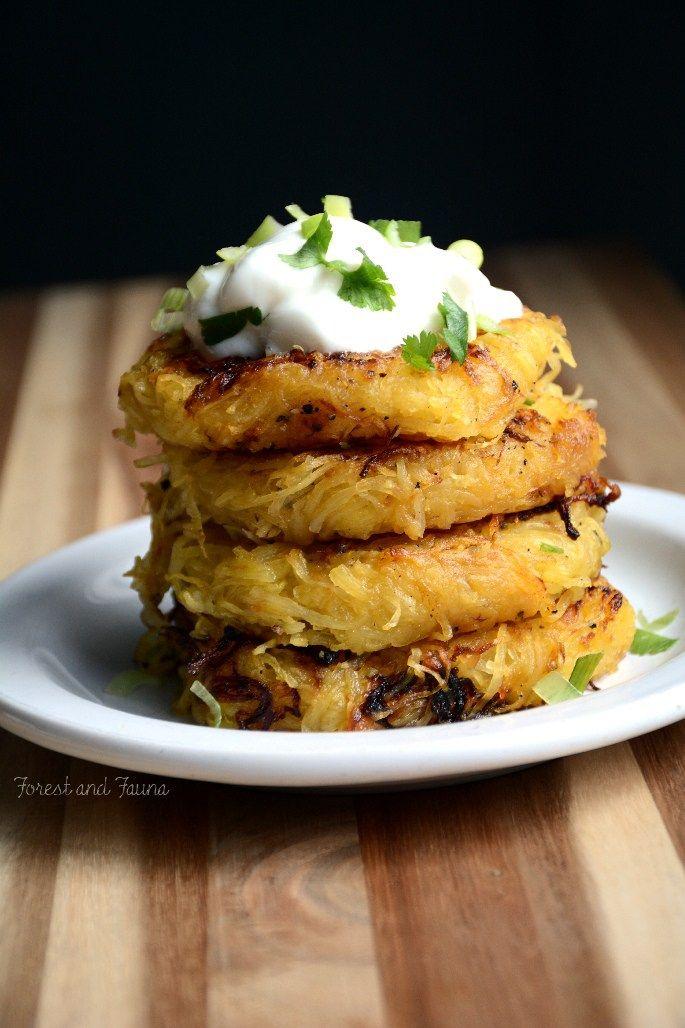 Spahgetti Squash Hash Browns - low carb - paleo - vegan - breakfast - recipe