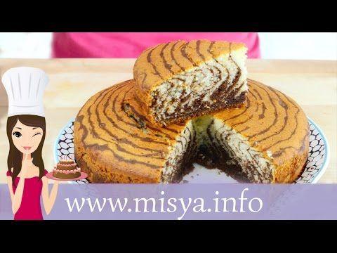TORTA ZEBRATA (Zebra cake) eng sub [Le dolcezze di Viky] - YouTube