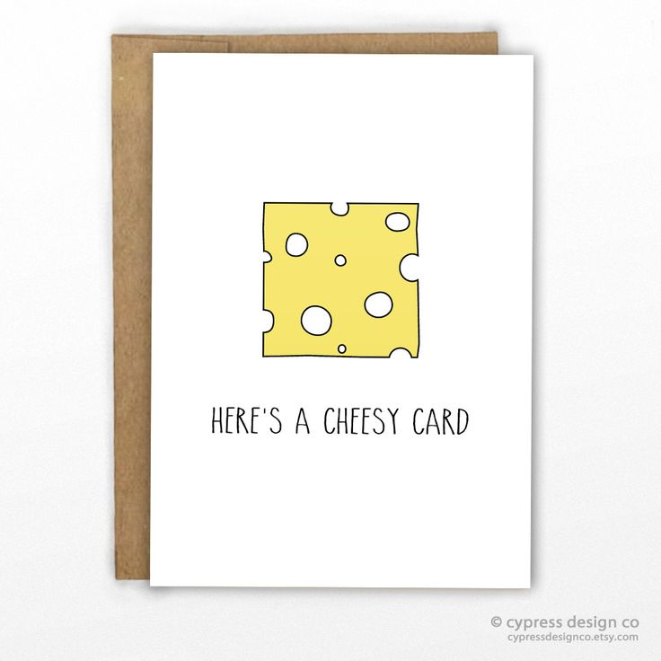 "Friendship Card | Just Because Card For all those cheesy people you know! - Blank Inside - A2 size (4.25"" x 5.5"") - 100% Recycled Heavy Card Stock with 100% Recycled Kraft Envelope - Packaged in Biode"