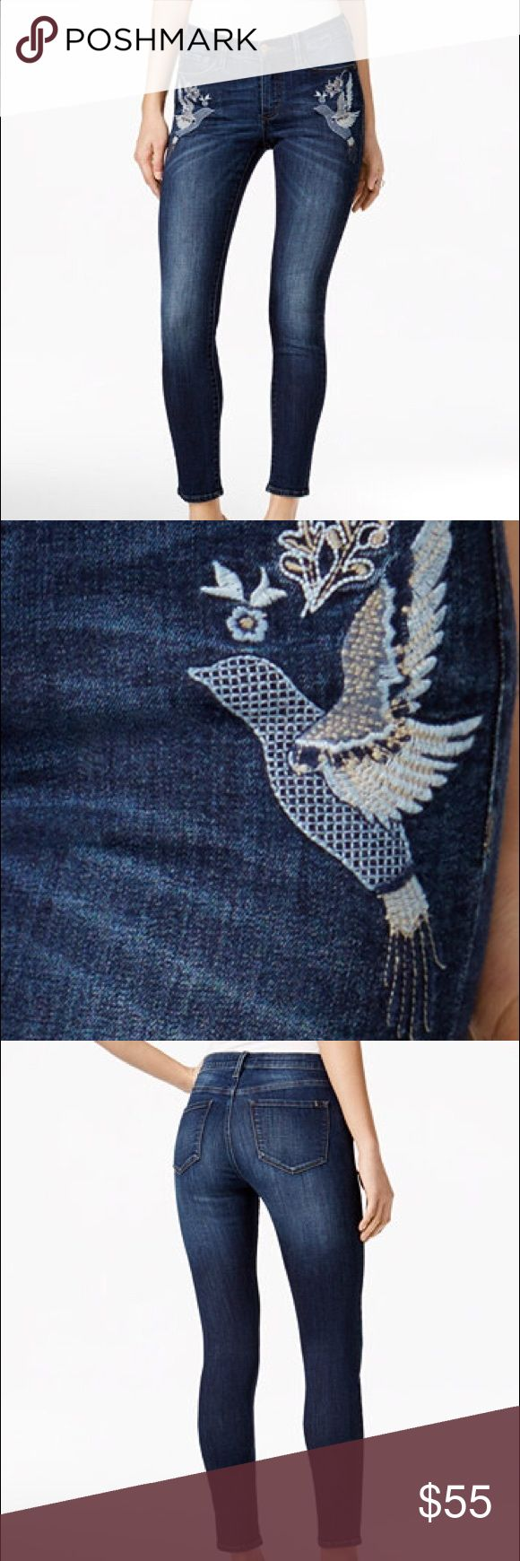 Buffalo David Bitton Faith Embroidered Skinny Jean Buffalo David Bitton Faith Embroidered Skinny Jeans Up the chic style of your denim collection with Buffalo David Bitton's bird-embroidered Faith skinny jeans Buffalo David Bitton Jeans Skinny