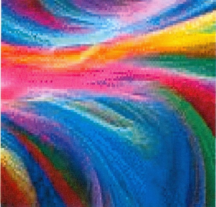 Abstract Rainbow Art cross-stitch pattern