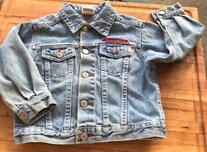 Vintage Tonka Construction Wear Blue Jean Jacket Kids Size 3X Hasbro 1998 Trucks   eBay