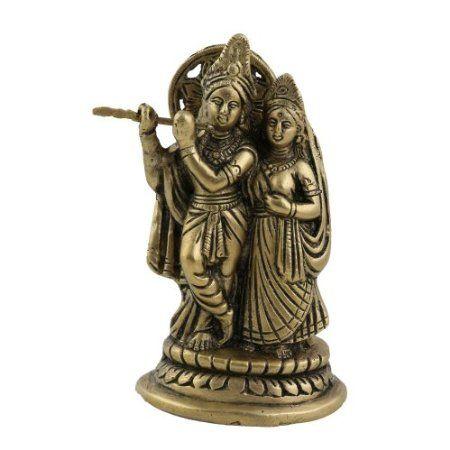 Amazon.com: Radha Krishna Brass Statue Hindu God Religious Gifts: Home & Kitchen