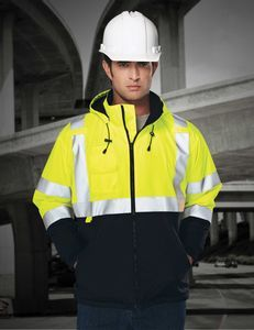 Tri-Mountain Safety Workwear Beacon Windproof/ Water Resistant Jacket #ANSI3jacket #safetyworkwear #windproofwaterresistantjacket #safetyworkclothes