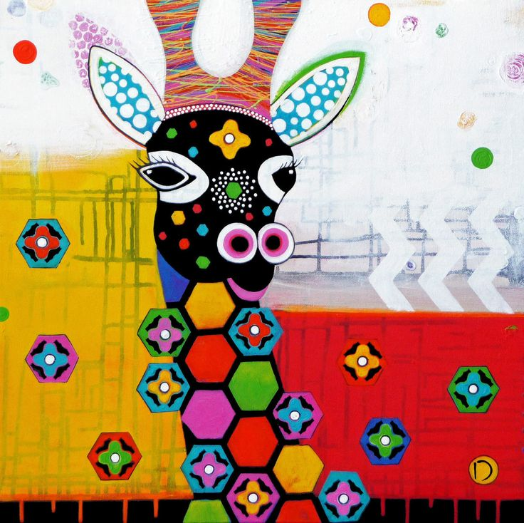 Donna Sharam's painting titled 'Mosaic Zarafa', is a mixed media on canvas artwork. Size measures 60 x 60cm. Priced at $890 (inc gst). Check the link to check on its availability: http://arttoart.com.au/product/mosaic-zarafa/