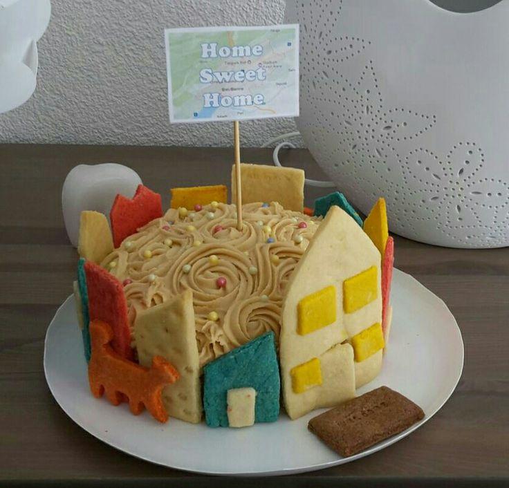 Orange kitty on the housewarming cake