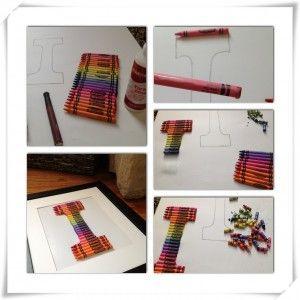 #DIY Crayon Monogram #Craft