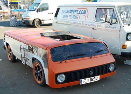 Volkswagen T3 Extreme Top Chop Vw Strange Fun Pinterest