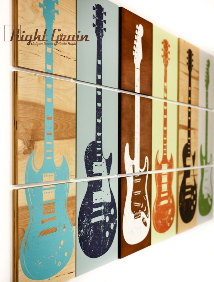 Custom Guitar Art Rock And Roll Artwork Original By RightGrain