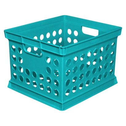 Sterilite Milk Crate Turquoise Stack For Shoe And Clothes