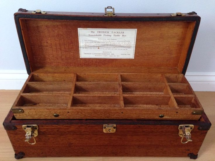 Antique wooden fishing tackle boxes best 2000 antique for Old wooden box ideas