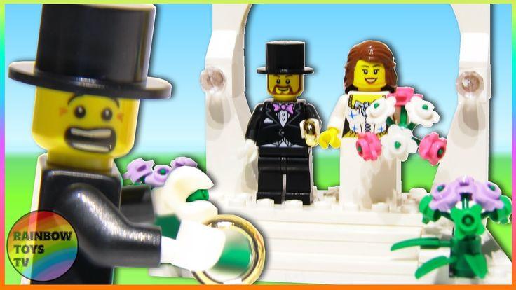 LEGO Toys - Wedding Favor Set - Bride and Groom minifigures Stop motion build video: https://youtu.be/rDckDTSKNzY