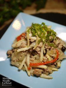 ぽかぽか生姜レシピ|無限生姜|生姜と豚ひき肉のエスニック炒め