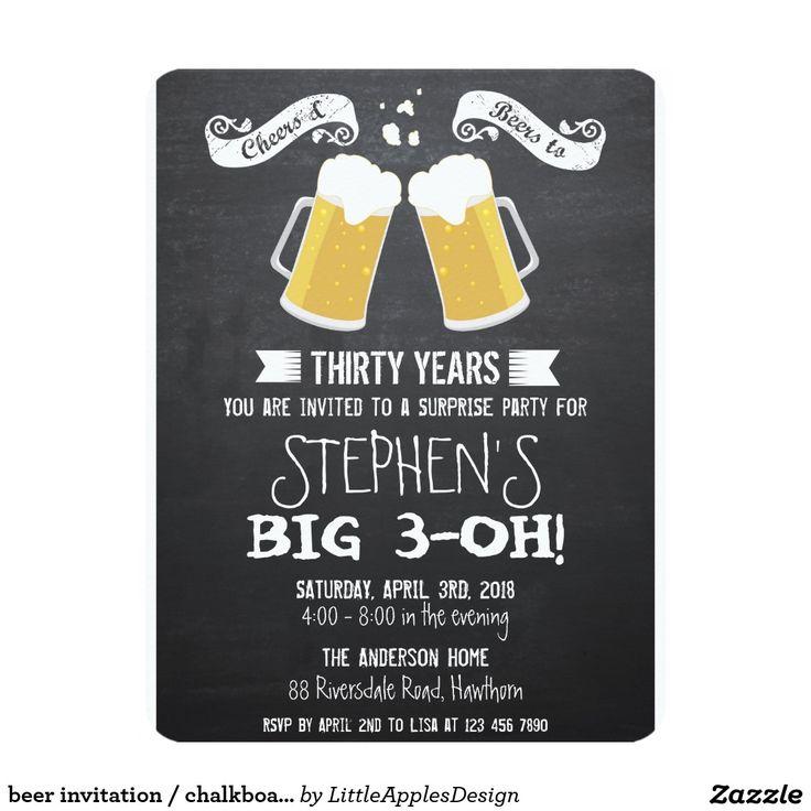 beer invitation / chalkboard beer invitation / adult birthday invitation / birthday invitation for men / cheers