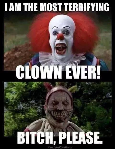 American horror story twisty the  clown vs penny wise from Stephen Kings it